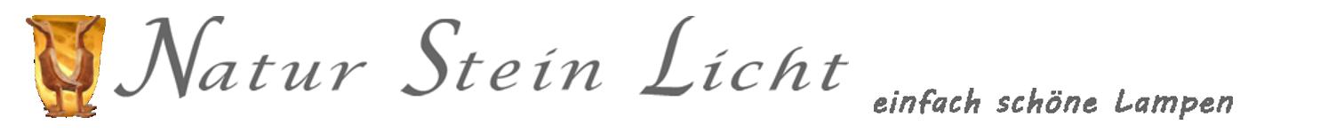 Natur Stein Licht - einfach schöne Lampen Alabaster und Landhauslampen-Logo